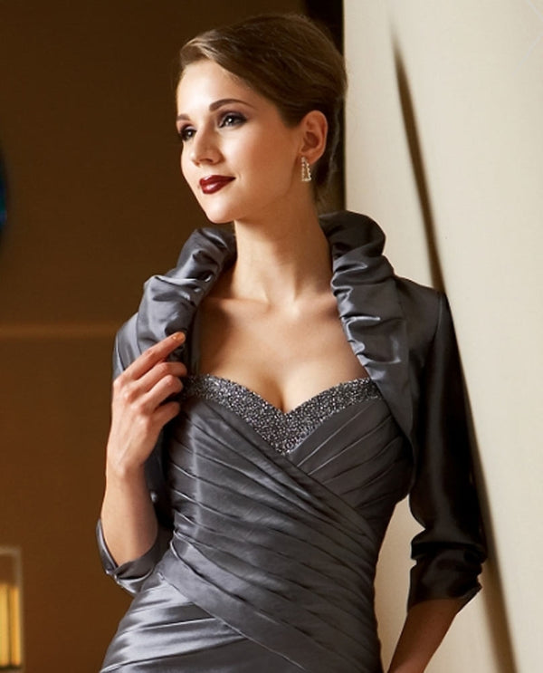 Pewter Jasmine MJ2806 Ruffle Collar Jacket