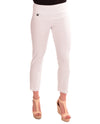 Raffinalla P411-70 Ankle Pants in white feature a tummy control waistband to hold you in