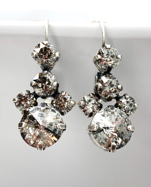 Cluster Earrings by Rachel Marie Designs Silver Patina