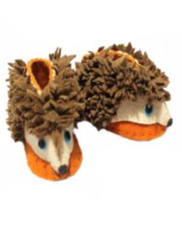Silk Road Bazaar PN19 Zooties Baby Hedgehog Booties handmade wool baby slippers