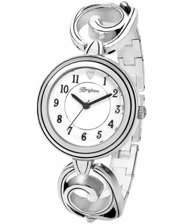 Silver Brighton W10290 Echoes Watch with fun swirled shiny links that can be worn anytime