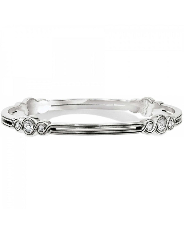 Brighton JF0952 Infinity Sparkle Bangle silver bangle bracelet with Swarovski