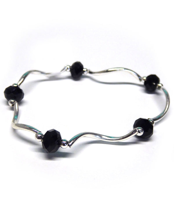My Fun Colors 101 Black Crystal Stretch Bracelet