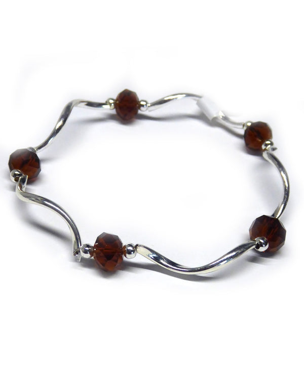 My Fun Colors 1004 Cola Crystal Stretch Bracelet