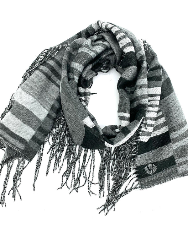 FRAAS 718021 Squiggle Scarf Light Grey