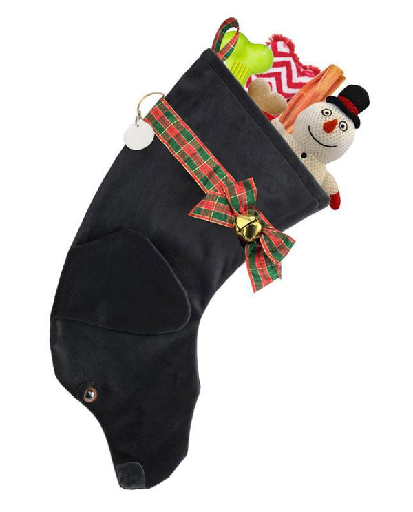Black Lab Stocking Treat Holder