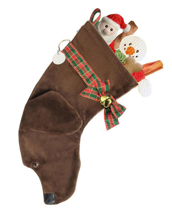 Chocolate Lab Stocking Treat Holder