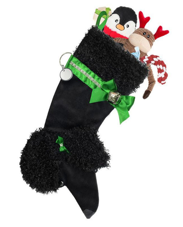Black Poodle Stocking Treat Holders