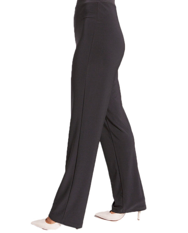 Sympli 27123G Womens Essential Pants in graphite are polished straight leg pants