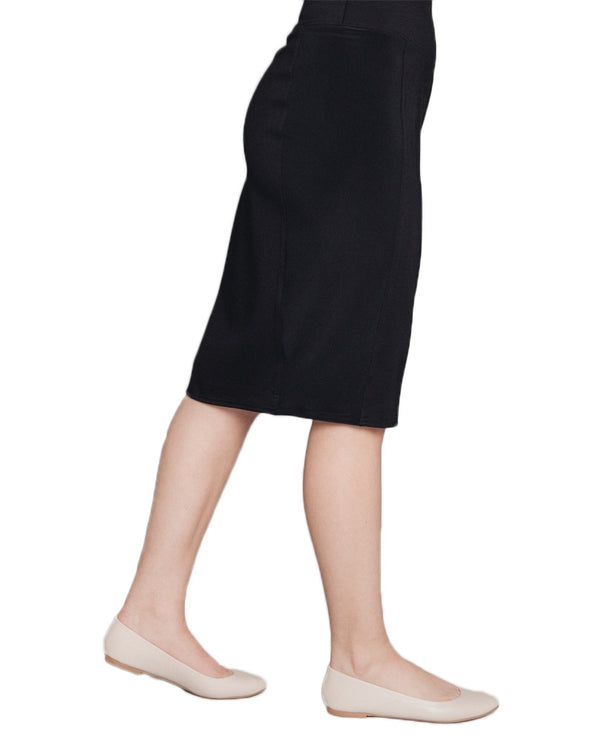 Sympli H6600S Black Cinch Mix Pencil Skirt
