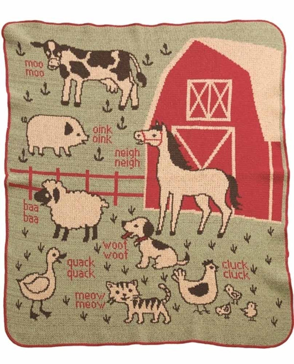 Green 3 433-6 Farm Jr Throw Blanket
