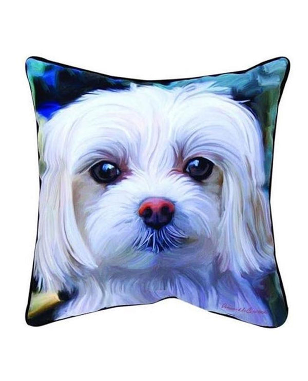 Manual Woodworker & Weavers SLLLMM Malty Maltese Pillow