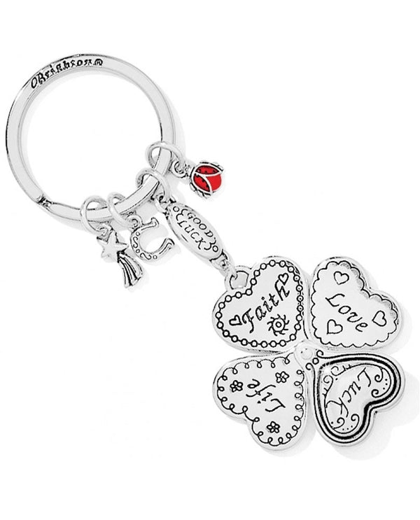 Brighton E11042 Lucky Clover Heart Key Fob