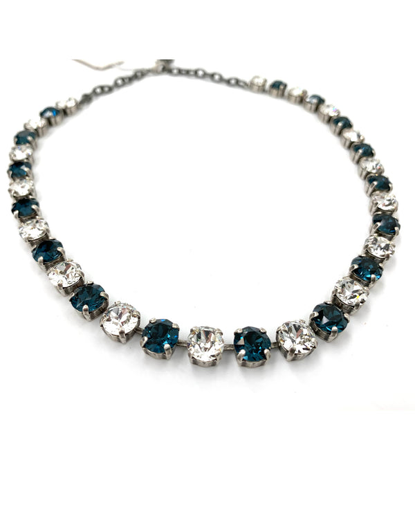 Jess Necklace By Rachel Marie Designs Denim Crystal