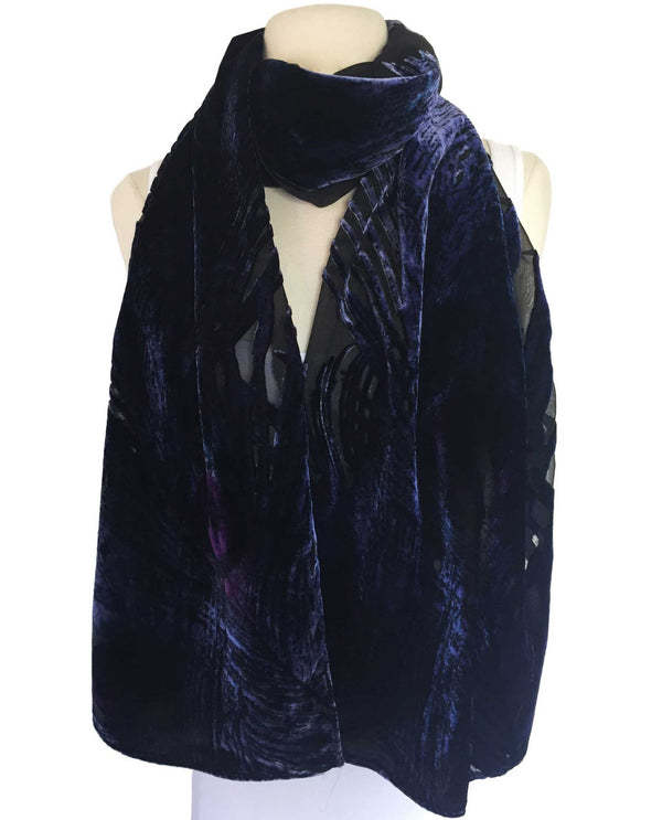 VS107DL Silk and Velvet Scarf