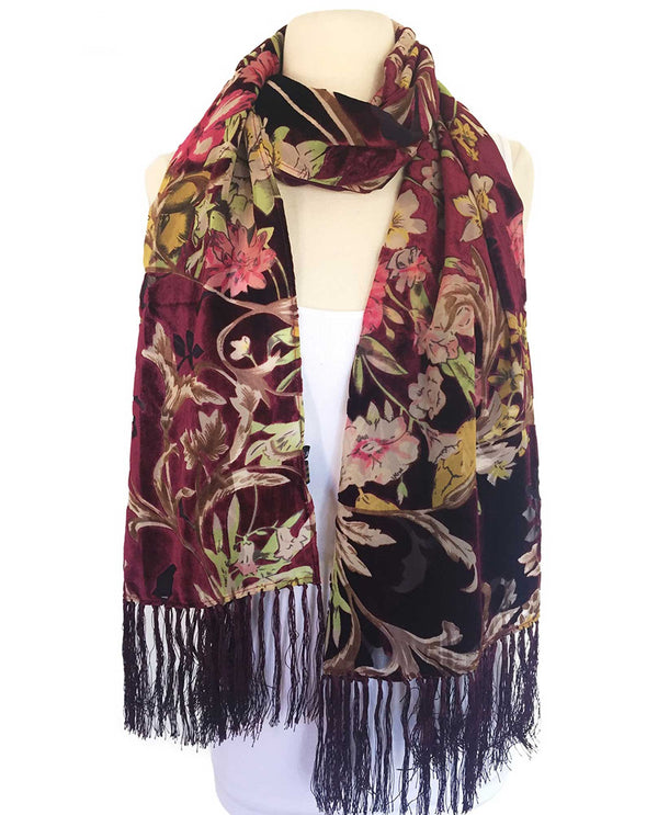 VS106R Silk & Velvet Scarf