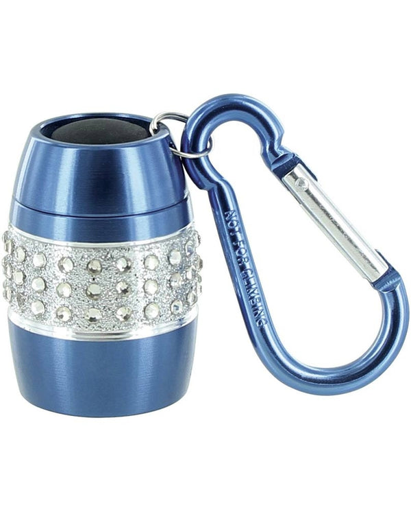 Lady Nugget Flashlight blue LED mini flashlight with rhinestones