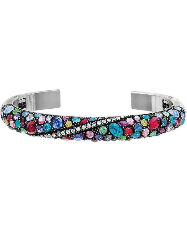 Multi Brighton JF3953 Trust Your Journey Double Hinged Bangle filled with colorful Swarovski