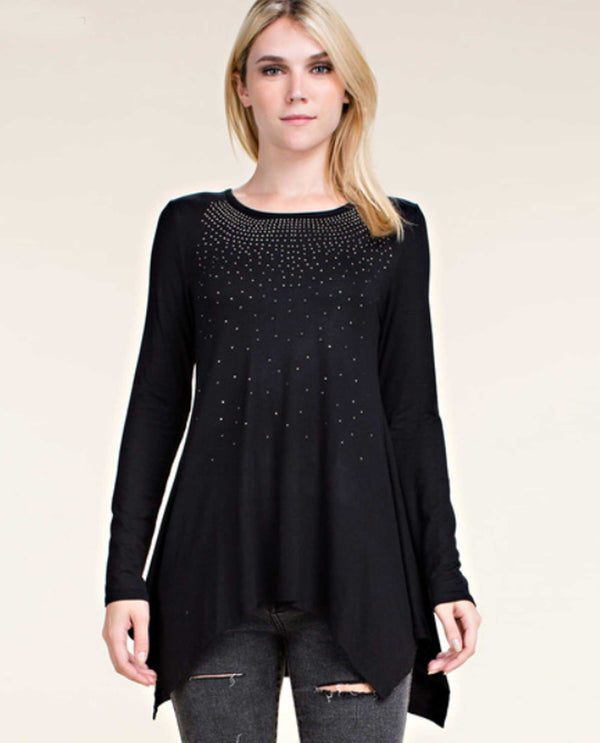 Black Vocal 16879L Long Sleeves With Stones