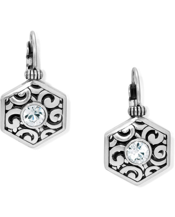 Brighton JA2970 Deco Solitaire Leverback Earrings