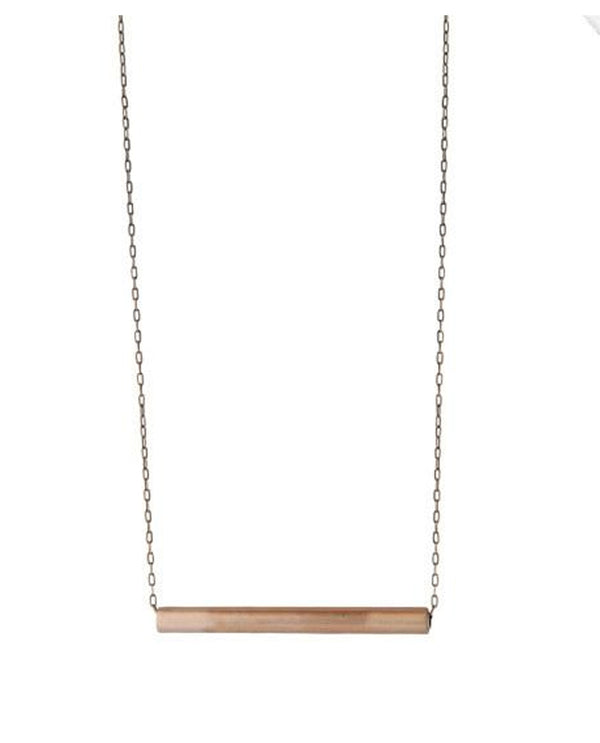 Mend On The Move Raise The Bar Necklace delicate silver necklace made from salvaged car parts
