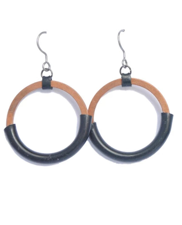 Mend On The Move Circle Of Comfort Earrings handmade hoop earrings made in Detroit