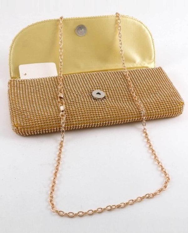 Gold Envelope Clutch Evening Bag