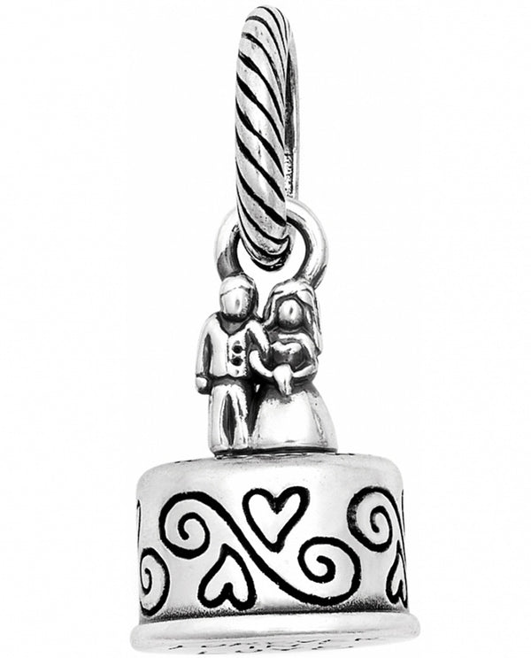 Brighton JC1310 Wedding Cake Charm silver wedding cake charm for engagement gifts