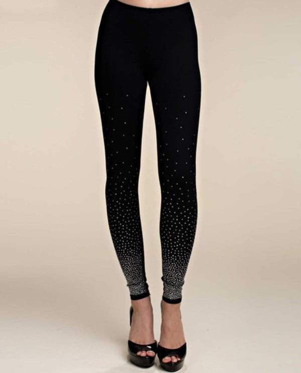 Black Vocal 14466PI Leggings With Stones