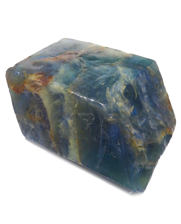 Soap Rocks Labradorite Soap 6 oz hand crafted soap made to look like a blue precious stone