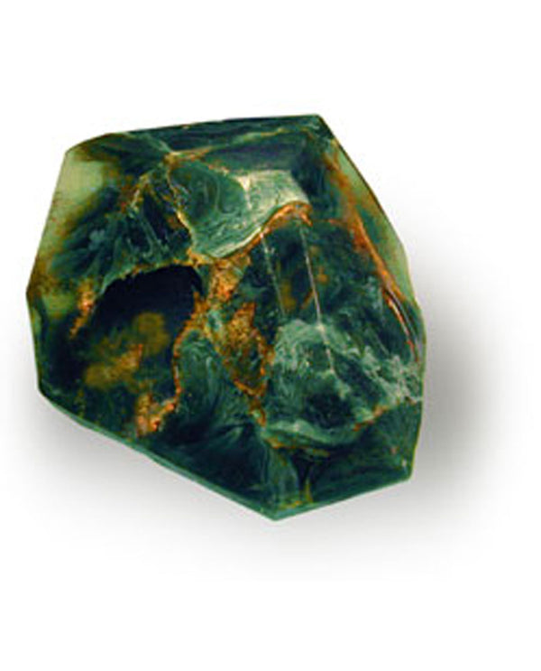 Soap Rocks Malachite Soap 6 oz hand crafted soap made to look like a green swirled precious stone