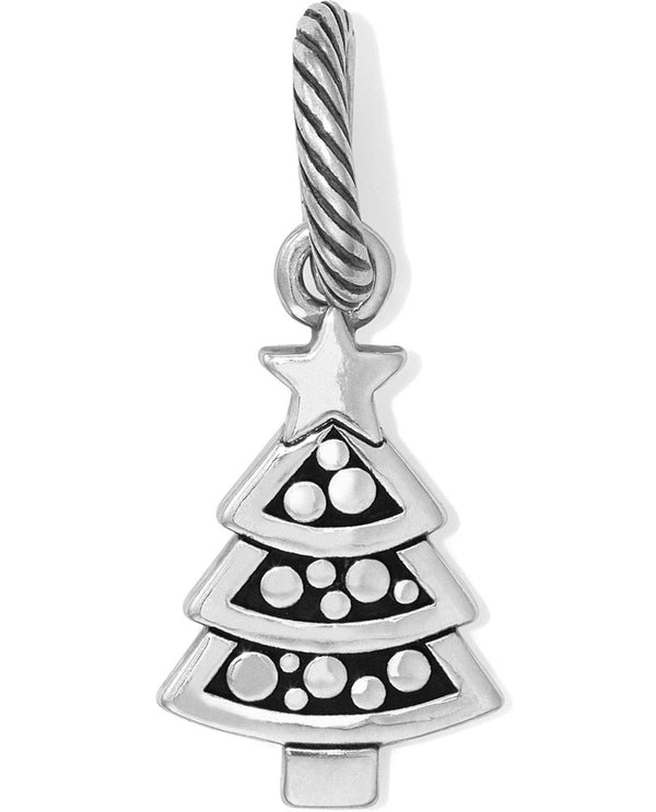 Silver Brighton Jolly Christmas Tree Charm JC3620 little Christmas tree for winter
