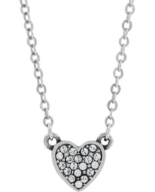 Petite Silver Brighton JL6621 Chara Heart Necklace with sparkling Swarovski heart