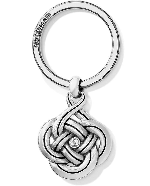 Brighton E17340 Interlok Key Fob silver Celtic knot key ring