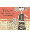 Curly Girl Design TYWON3 Box Of 6 Wonderful Card