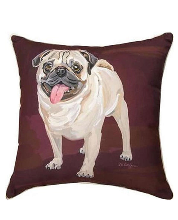 Manual Woodworker & Weavers SLPUG Bruiser Pug Pillow