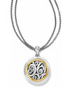 Silver gold Brighton JL1101 Spin Master Convertible Necklace with reversible pendant and chain