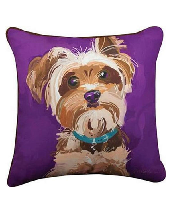 Manual Woodworker & Weavers SLTERR Yorkshire Terrier Pillow