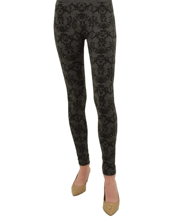 MV20293Z charcoal grey Printed Fleece Lined Leggings