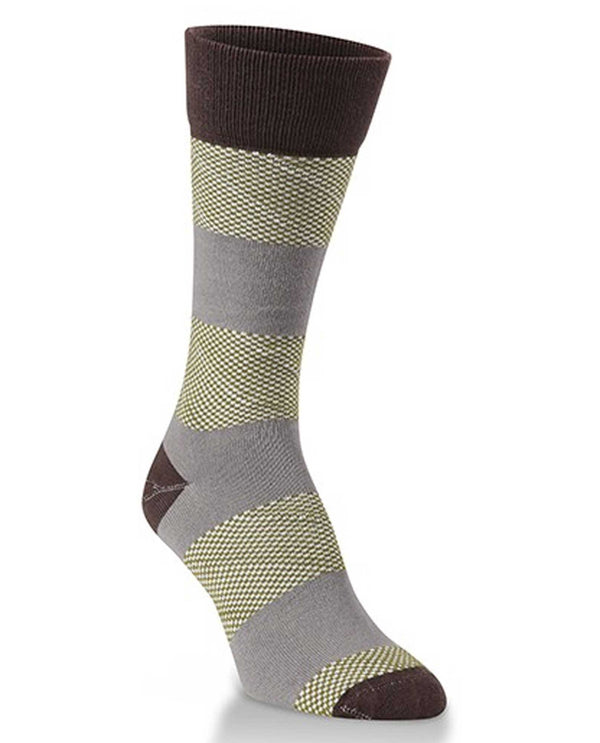 World's Softest Socks WKPMKST-104 Natural Stripe Crew