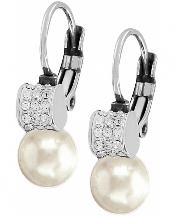 Brighton JA1302 Meridian Petite Pearl Leverback Earrings