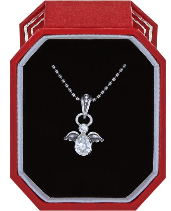 Silver Brighton Heavenly Angel Necklace Gift Box JD1401 made out of Swarovski crystals