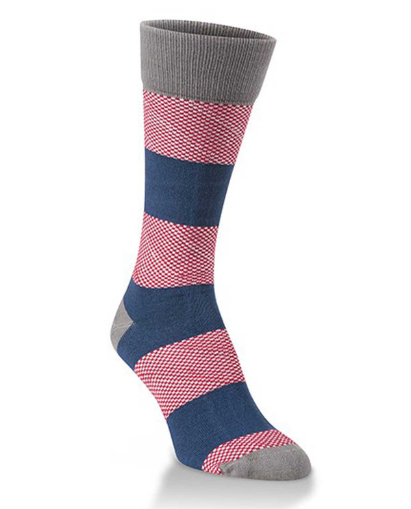 World's Softest Socks WKPRUG-443 Americana Rubgy Crew Socks