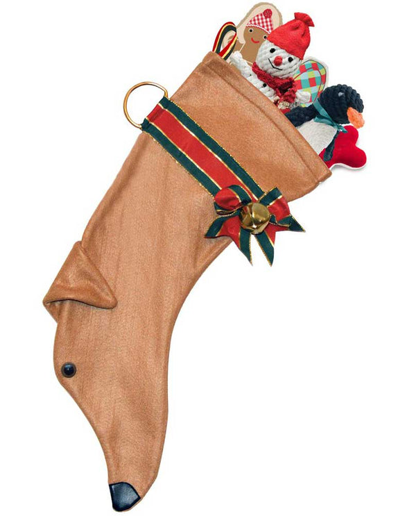 Hearth Hounds HH10 Tan Greyhound Stocking