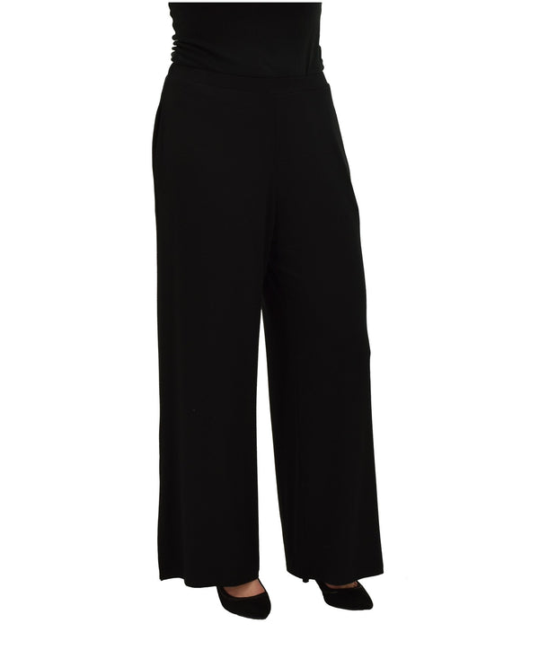 Comfy USA M918  Long Wide Slit Leg Pant Black