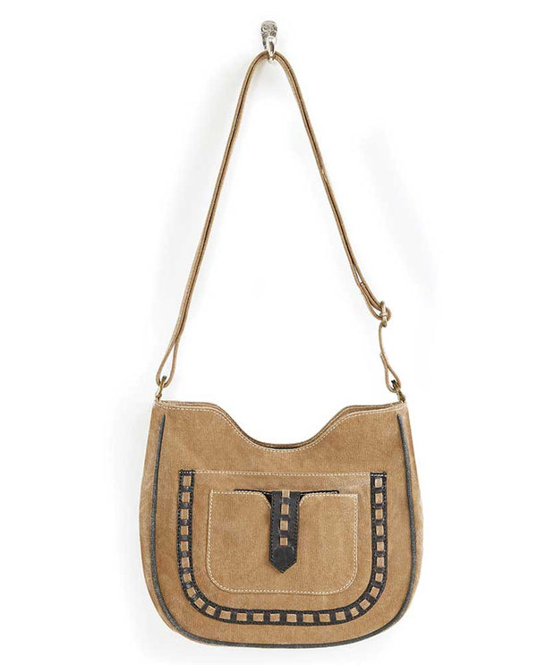Mona B Phoebe Crossbody is a brown western inspired crossbody bag with adjustable straps