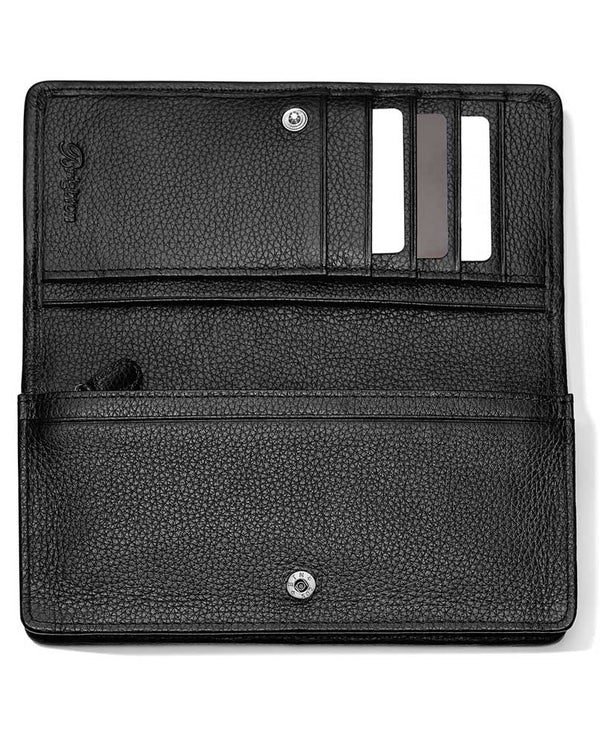 Leather Black multi Brighton T35033 Noir Jardin Rockmore Wallet with 11 credit card slots