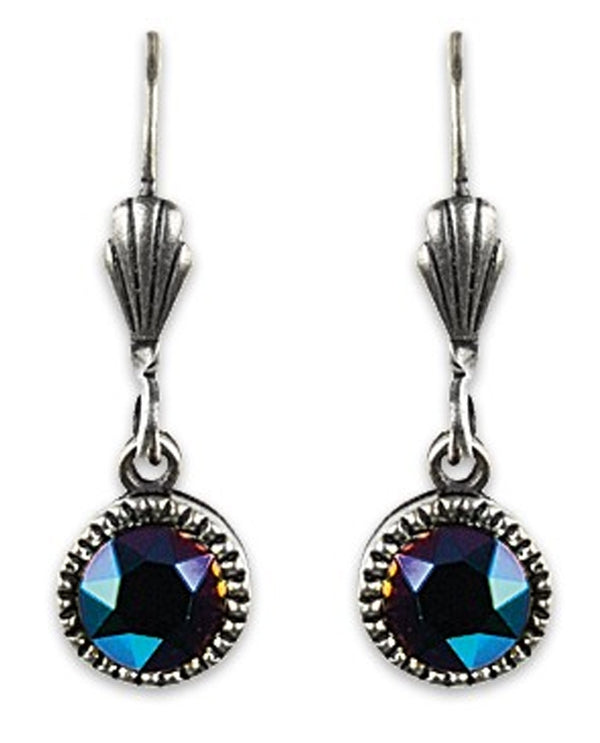Anne Koplik ES03SGR Simple Drop Earrings with rainbow Swarovski crystals made in the USA