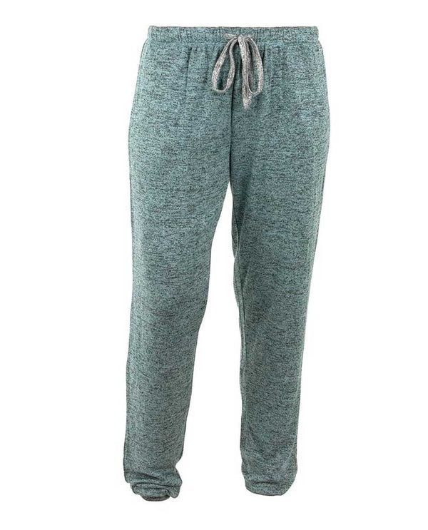 Hello Mello HMCTJ Heathered Jogger Pant in mint are lounge pants with drawstring and banded ankles for stylish athletic pant