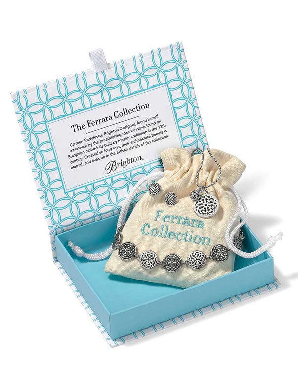 Silver Brighton JD5280 The Heart Of An Artist - Ferrara Petite Collection has three pieces in a box